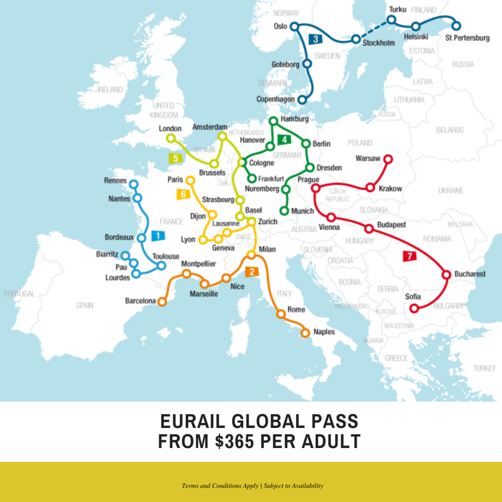 Rail travel specials to Europe