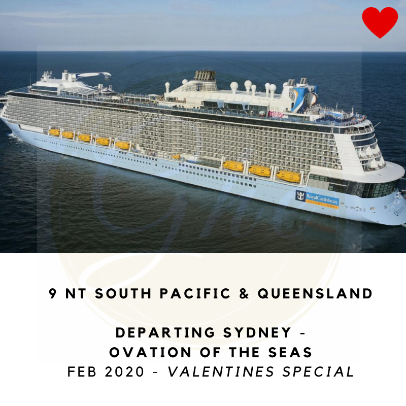 Cruise travel specials to South Pacific and Queensland